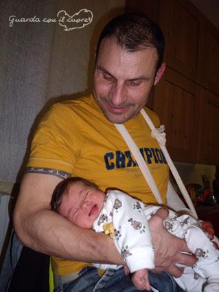 La mia bambina con sindrome di down e suo papà