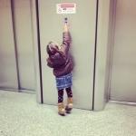 Emma all'ascensore