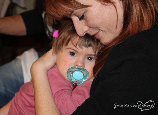 mamma e figlia con sindrome di down