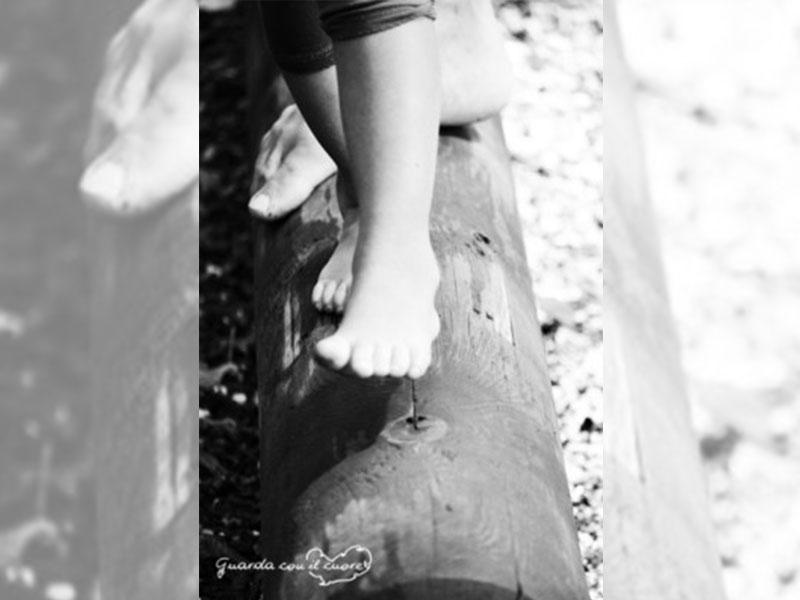piedi in equilibrio